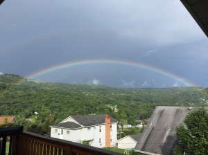 Beautiful rainbow after the storm!