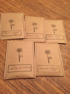 Cute packaging for my purple sunflowers!
